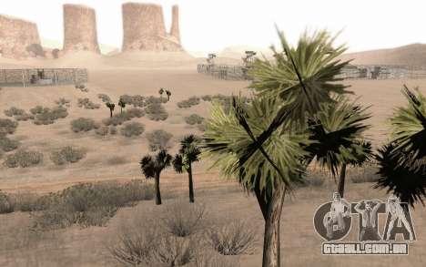 Uma cópia do original árvores para GTA San Andreas por diante tela