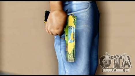 Brasileiro Pistol para GTA San Andreas terceira tela