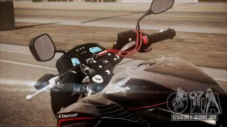 Honda CB650F Pretona para GTA San Andreas vista traseira