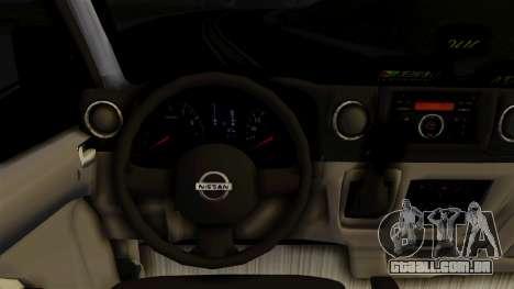 Nissan NV350 Urvan Leonardo para GTA San Andreas vista direita
