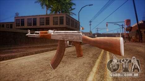 AK-47 v6 from Battlefield Hardline para GTA San Andreas segunda tela