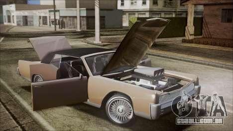 GTA 5 Vapid Chino IVF para GTA San Andreas vista interior