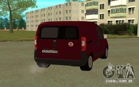 Fiat Fiorino para GTA San Andreas traseira esquerda vista