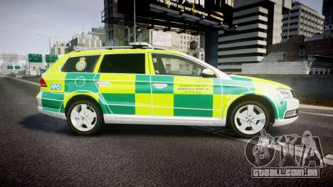 Volkswagen Passat B7 North West Ambulance [ELS] para GTA 4 esquerda vista