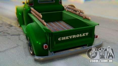 Chevrolet 3100 1951 Work para GTA San Andreas vista interior