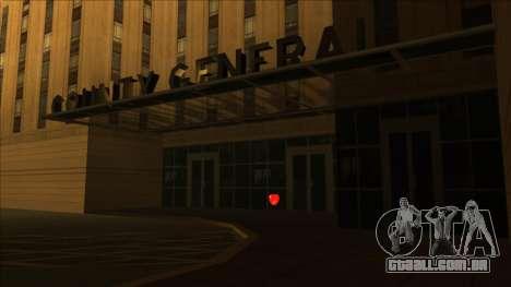PS captadores perto de hospitais no estado para GTA San Andreas segunda tela