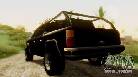 FBI Rancher Offroad para GTA San Andreas esquerda vista