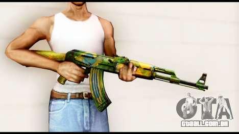 Brasileiro AK-47 para GTA San Andreas terceira tela