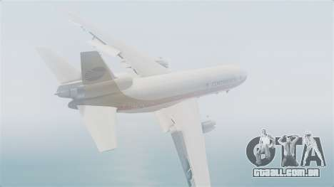 DC-10-30 Continental Airlines 1985 para GTA San Andreas esquerda vista