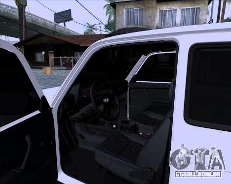 VAZ 2121 Niva 4x4 para GTA San Andreas vista traseira