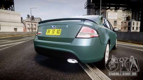 Ford Falcon FG XR6 Turbo para GTA 4 traseira esquerda vista