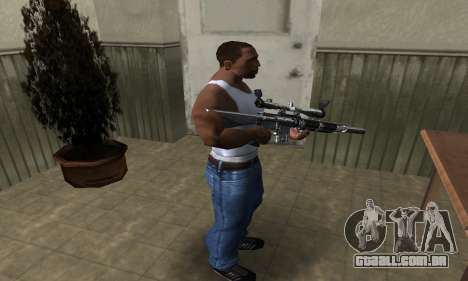 Full Silver Sniper Rifle para GTA San Andreas terceira tela