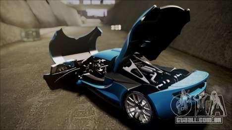 Hennessey Venom GT 2012 U.S.A American para GTA San Andreas vista traseira