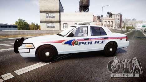 Ford Crown Victoria Bohan Police [ELS] para GTA 4 esquerda vista