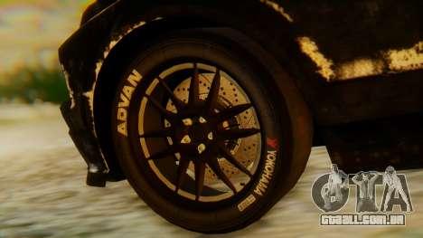 Shelby GT500 Death Race para GTA San Andreas vista direita