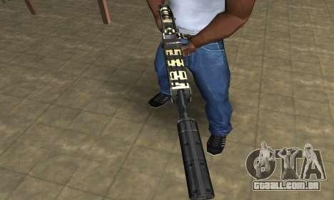 Gold Lines Combat Shotgun para GTA San Andreas segunda tela