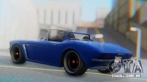 Invetero Coquette BlackFin Convertible para GTA San Andreas esquerda vista