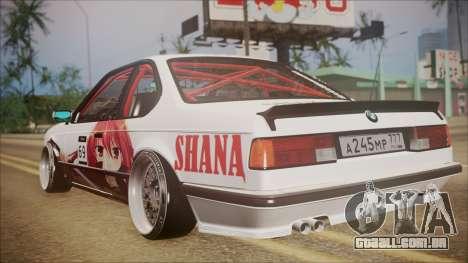 BMW E24 Shakugan No Shana Itasha para GTA San Andreas traseira esquerda vista