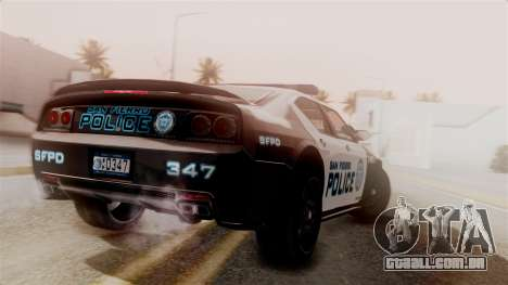 Hunter Citizen from Burnout Paradise Police SF para GTA San Andreas esquerda vista
