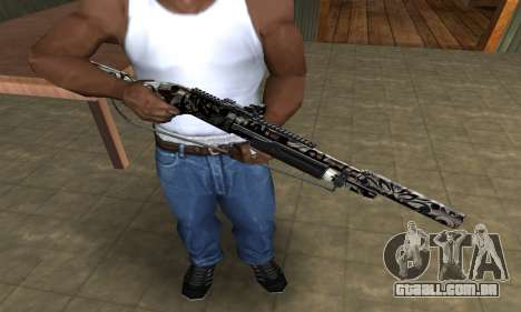 Black Flowers Shotgun para GTA San Andreas