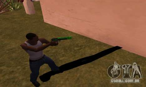 Deagle Green Style para GTA San Andreas terceira tela
