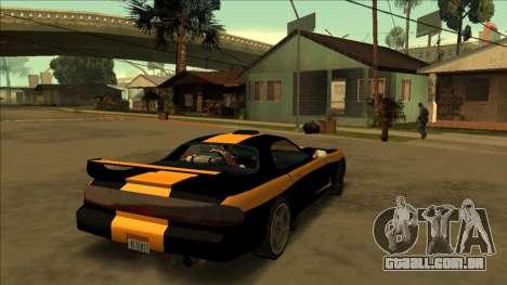 ZR-350 Road King para GTA San Andreas traseira esquerda vista
