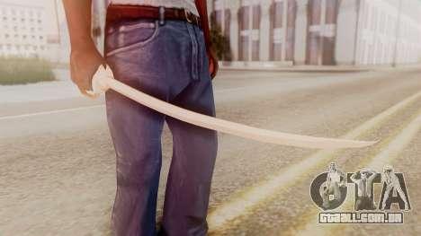 Red Dead Redemption Katana Crome Sword para GTA San Andreas segunda tela