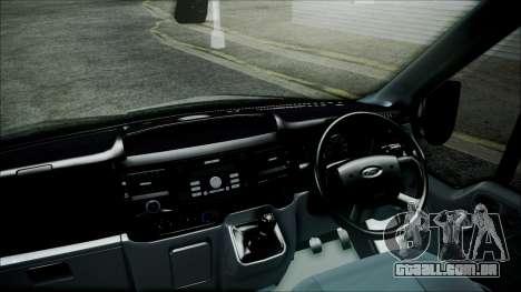 Ford Transit SSV 2011 para GTA San Andreas traseira esquerda vista