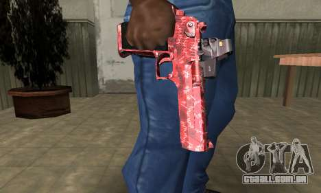 Red Chest Deagle para GTA San Andreas segunda tela