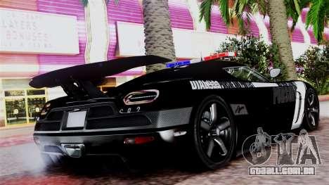 NFS Rivals Koenigsegg Agera R v2.0 para GTA San Andreas esquerda vista