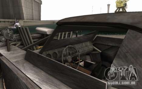 Dodge Charger Infernal Bulldozer para GTA San Andreas vista traseira