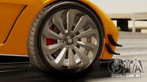 Pegassi Osyra Full Extras para GTA San Andreas traseira esquerda vista