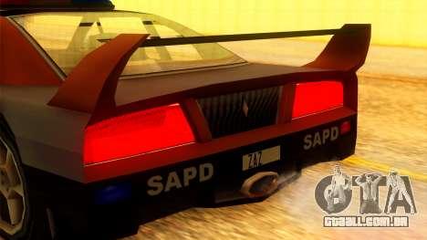 Police Turismo para GTA San Andreas vista direita