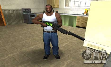 SPAS-12 Green Lines para GTA San Andreas terceira tela
