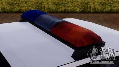 Police SA Premier para GTA San Andreas vista traseira