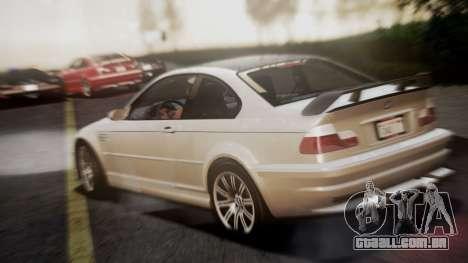 BMW M3 GTR Street Edition para GTA San Andreas esquerda vista