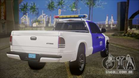 Dodge Dakota Iraqi Police para GTA San Andreas esquerda vista