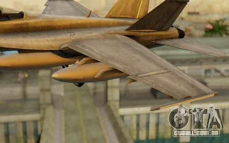 FA-18F Super Hornet BF4 para GTA San Andreas vista direita