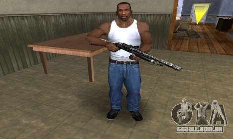 Black Flowers Shotgun para GTA San Andreas terceira tela