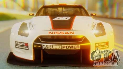 Nissan GT-R GT1 Sumo Tuning para GTA San Andreas vista interior