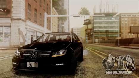 Mercedes-Benz C63 AMG 2015 Edition One para GTA San Andreas vista interior