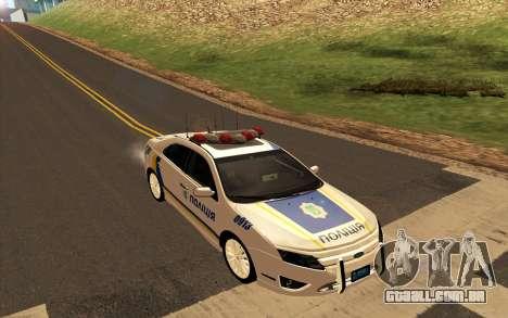 Ford Taurus Ukraine Police para GTA San Andreas traseira esquerda vista