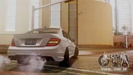 Mercedes-Benz C63 AMG 2015 Edition One para GTA San Andreas vista superior