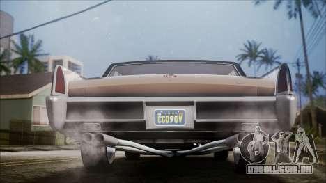 GTA 5 Vapid Chino IVF para GTA San Andreas vista traseira