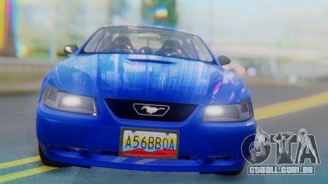 Ford Mustang 1999 Clean para GTA San Andreas vista traseira