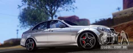 Mercedes-Benz C63 AMG 2013 para GTA San Andreas