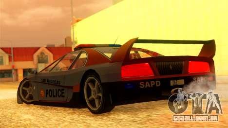 Police Turismo para GTA San Andreas esquerda vista