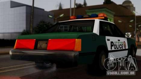 VCPD Cruiser para GTA San Andreas traseira esquerda vista