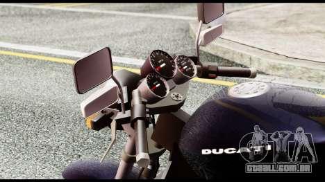 Ducati FCR-900 v4 para GTA San Andreas vista traseira