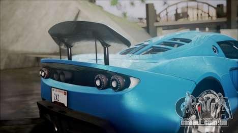 Hennessey Venom GT 2012 U.S.A American para GTA San Andreas vista interior